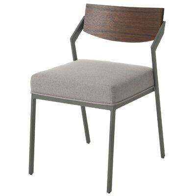 Blount Upholstered Dining Chair Color: Gray