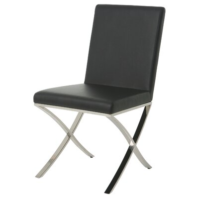 Partain Upholstered Dining Chair Upholstery Color: Black