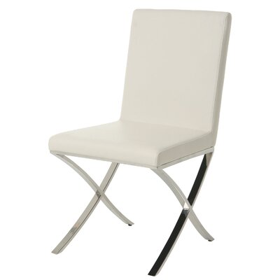 Partain Upholstered Dining Chair Upholstery Color: Off-White