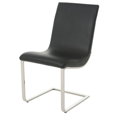 Partee Upholstered Dining Chair Upholstery Color: Black