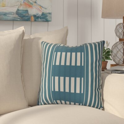 Bartow Beach Blanket Throw Pillow Size: 16 H x 16 W x 3 D, Color: Teal