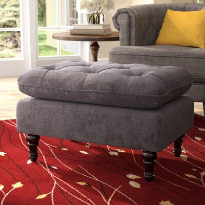 Bateman Ottoman Upholstery: Charcoal Grey