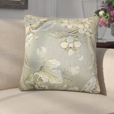 Gofried Floral Throw Pillow Color: Green