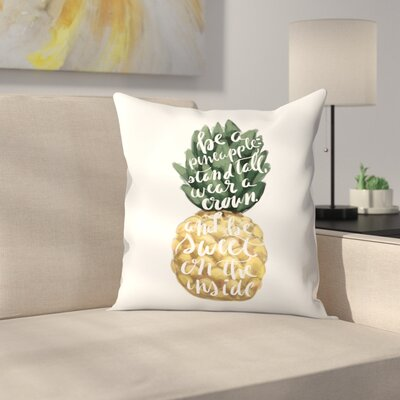 Jetty Printables Stand Tall Pineapple Art Throw Pillow Size: 16 x 16