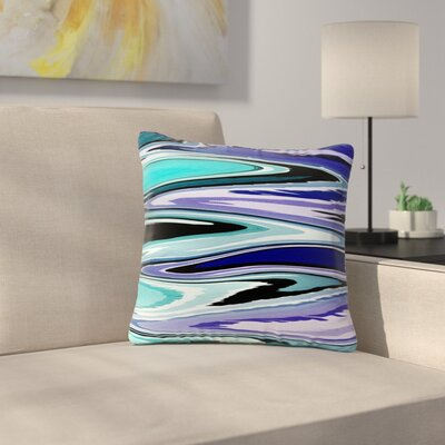 Beach Waves Throw Pillow Size: 26 H x 26 W x 7 D, Color: Blue