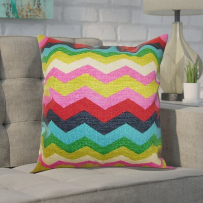 Espinal Zigzag Cotton Throw Pillow Color: Dessert, Size: 20 x 20