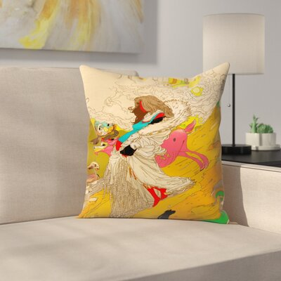 Kasi Minami Mother Throw Pillow Size: 14 x 14