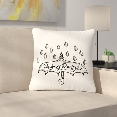 Busy Bree Rainy Daze Outdoor Throw Pillow Size: 16 H x 16 W x 5 D