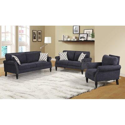 Lawncrest 2 Piece Living Room Set Color: Gray