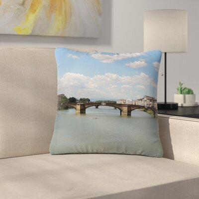 Nick Nareshni Italian Archways Nature Teavel Outdoor Throw Pillow Size: 18 H x 18 W x 5 D