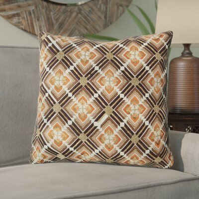 Belafonte Geometric Flame Embroidery 100% Cotton Throw Pillow