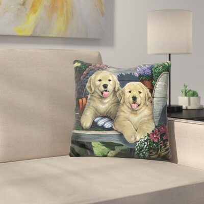 Wagging Along for the Ride Throw Pillow
