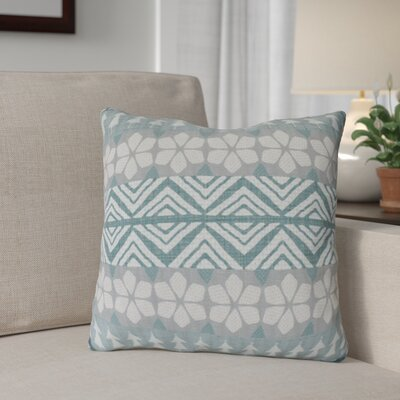 FairIsle Outdoor Throw Pillow Size: 18 H x 18 W, Color: Teal