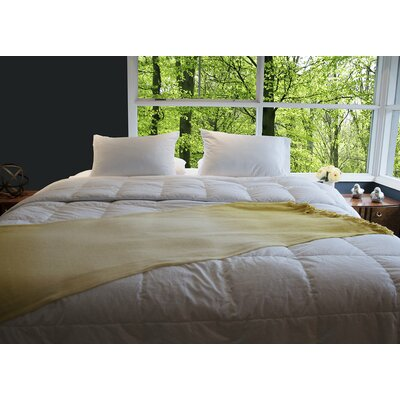 Antimicrobial Goose All Season Silver Down Comforter Size: Queen