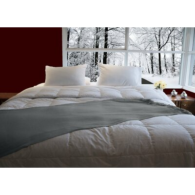 Luxury Aloe Vera Goose Down Comforter Size: Queen