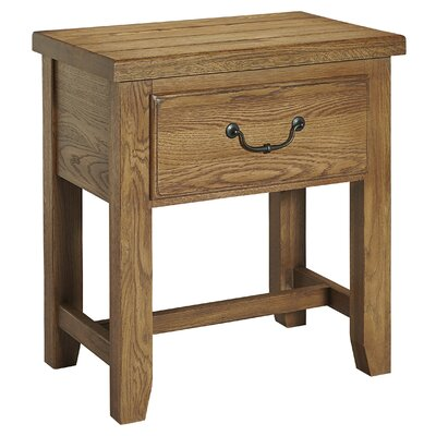 Rambert 1 Drawer Nightstand Color: Honey Oak