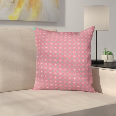 Big Small Flower Motifs Square Pillow Cover Size: 24 x 24
