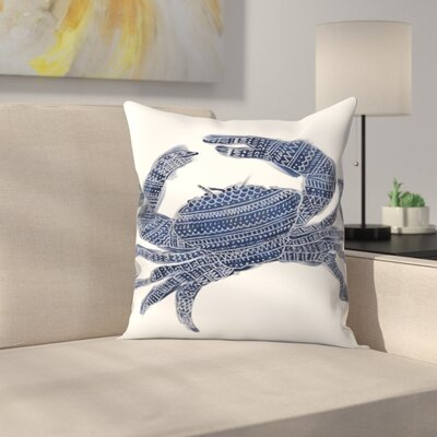 Jetty Printables Tribal Crab Throw Pillow Size: 18 x 18
