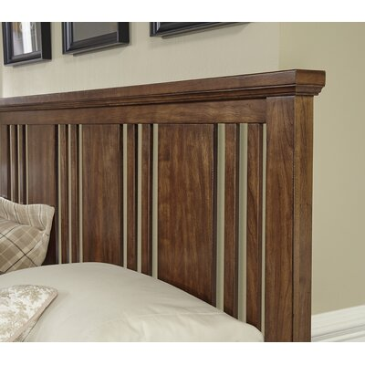 Diemer Craftsman Slat Headboard Size: Queen, Color: Amish Cherry