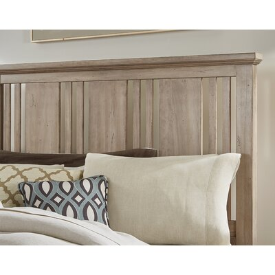 Diemer Craftsman Slat Headboard Size: King, Color: Rustic Sandstone