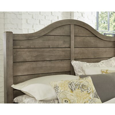 Westerberg Maple Shiplap Panel Headboard Size: Full, Color: Gray