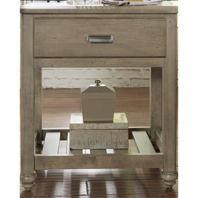 Gallager 1 Drawer Nightstand Color: Rustic Gray