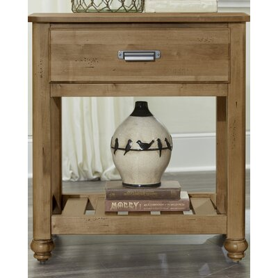 Gallager 1 Drawer Nightstand Color: Natural Maple