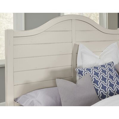 Westerberg Maple Shiplap Panel Headboard Size: Full, Color: White