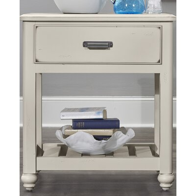 Gallager 1 Drawer Nightstand Color: Dusky White