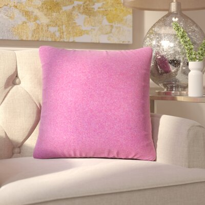 Ambriz Solid Throw Pillow Color: Purple