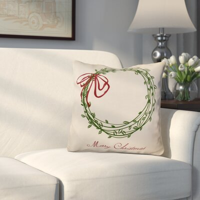 Merry Wishes Throw�Pillow Size: 16 H x 16 W, Color: Green