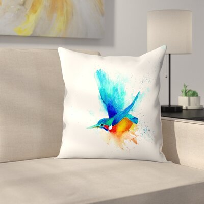 Sapphire Streak Cmyk Throw Pillow Size: 18 x 18