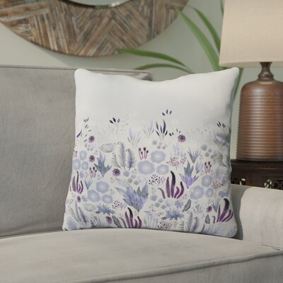 Holley Purple Fields Outdoor Throw Pillow Size: 16 H x 16 W x 4 D