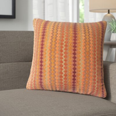 Jenny Geometric Throw Pillow Color: Amber