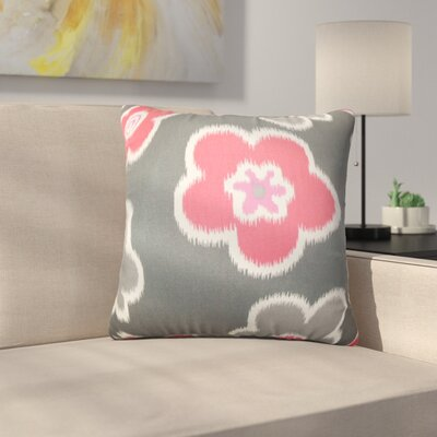 Bunbury Floral Cotton Throw Pillow Color: Flamingo, Size: 22 x 22