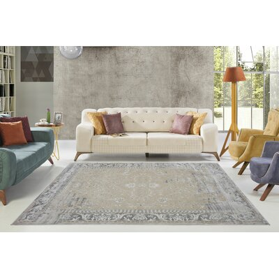 Dipasquale Champagne/Camel Gray Area Rug Rug Size: Rectangle 66 x 96