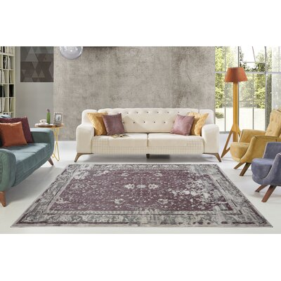 Eklund Champagne/Rose Cream Area Rug Rug Size: Rectangle 53 x 77