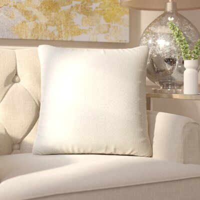 Chevaliers Solid Throw Pillow Color: Citron