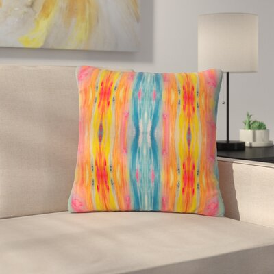 Nika Martinez Boho Tie Dye Outdoor Throw Pillow Size: 18 H x 18 W x 5 D