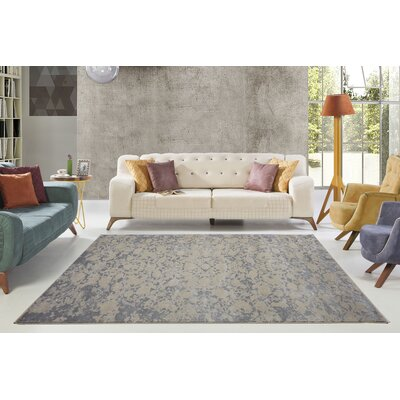 Dipasquale Champagne/Camel Gray Area Rug Rug Size: Rectangle 53 x 77
