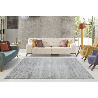 Dipasquale Silver/Gray Area Rug Rug Size: Rectangle 710 x 106