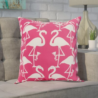 Carmack Flamingo Throw Pillow Color: Pink/White, Size: 18 x 18