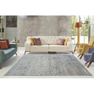 Dipasquale Champagne/Gray Area Rug Rug Size: Rectangle 710 x 106