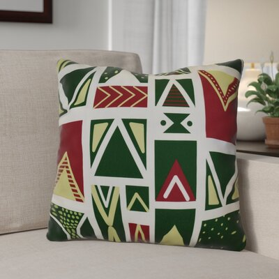 Christmas Outdoor Throw Pillow Size: 18 H x 18 W, Color: White