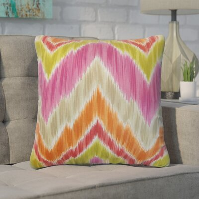 Xenia Ikat Cotton Throw Pillow