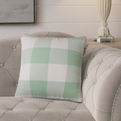Pompa Plaid Cotton Throw Pillow Color: Aqua
