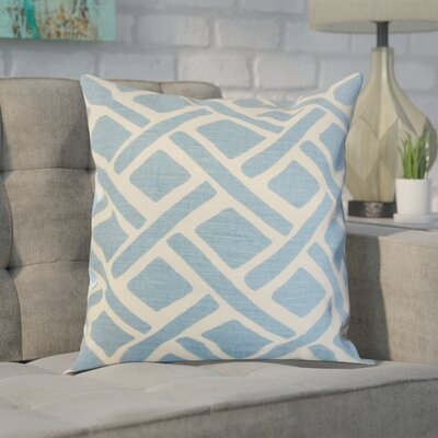 Moton Linen Throw Pillow Color: River, Size: 18x18