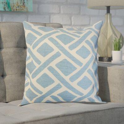 Moton Linen Throw Pillow Color: River, Size: 18x18