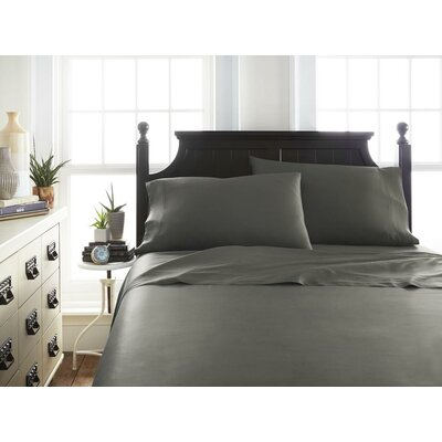 Villagomez Rayon from Bamboo Sheet Set Size: California King, Color: Gray