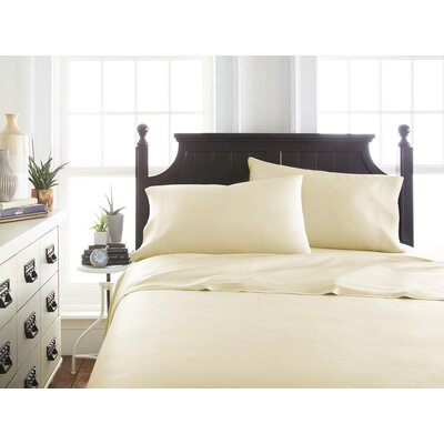 Villagomez Rayon from Bamboo Sheet Set Size: King, Color: Ivory